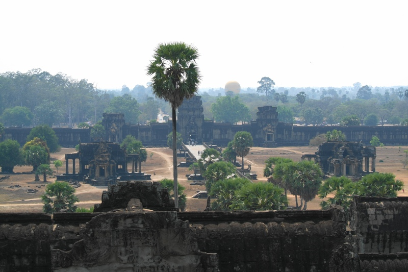 Looking back at the entrance to Angkor Wat