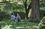 An artist in the National Garden